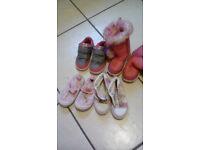 4 pair girls shoe size 23-24