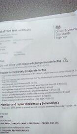 Peugeot 206 spares repairs