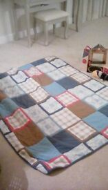 Laura Ashley patchwork cover for single childrens bed