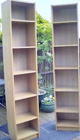 IKEA Billy Pine Veneer Bookcases x 2 Good Condition 202x40x28