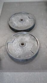 2 x 20kg rubber weights