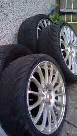 X3 tyres and alloys. 205/40zr 17 84wl x l