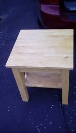Heavy Wooden Side Table - reduced