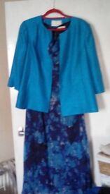 Special occasion designer dress and jacket outfit