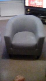 Grey tub chair as new