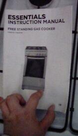 Essentials Freestanding Gas Cooker - NEED GONE ASAP
