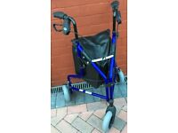 MOBILITY WALKER 3 WHEEL VERY LIGHT WEIGHT ALUMINIUM HARDLY USED COST £87 PLUS TODAY LIKE £32