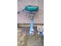 Boat and engine for sale 7ft long by 4 and half ft wide with new oars
