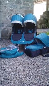 Baby Jogger Double Pushchair with Carrycot