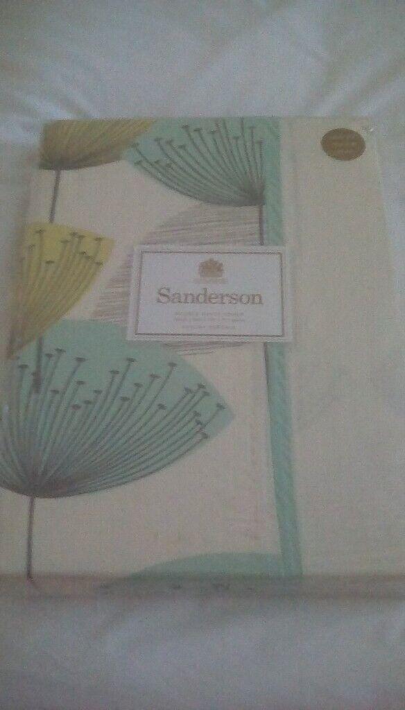 Sanderson Dandelion Clocks Aqua Bedding