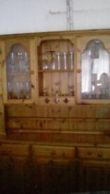 Ducal 3 door back lit Pine dresser. Good condition. Buyer to collect.