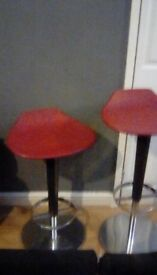 x2 arper adjustable height breakfast bar stools