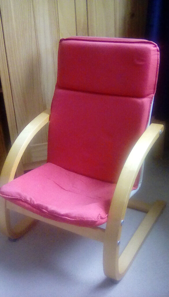 Red Brentwood Pong childs chair livingroom or bedroom