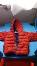 Boys red timberland coat 18 months