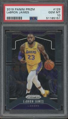 2019 Panini Prizm #129 LeBron James Gem Mint PSA 10