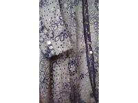 East silk/cotton mix top