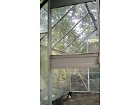 Used Aluminium greenhouse 8ft L-6ft W