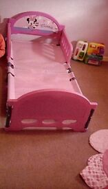 Toddler minnie mouse bed and matress