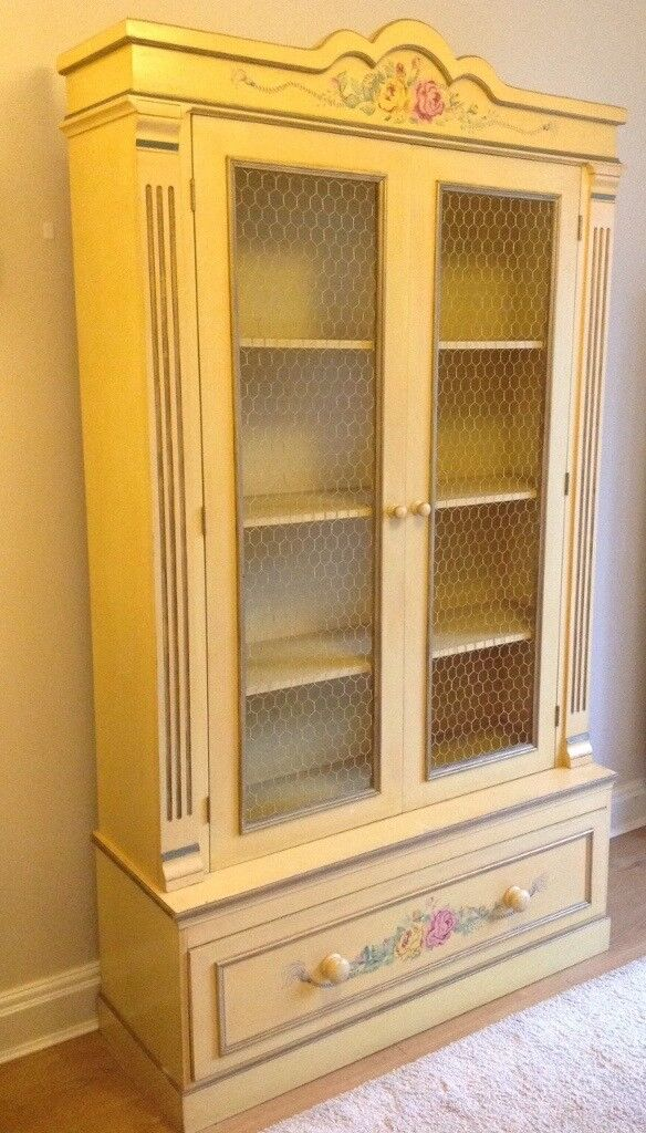 Hand painted French-style Armoire cabinet