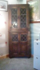 Beautiful leaded glass priory corner unit