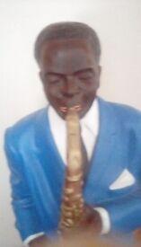 Large jazz musician figure
