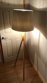 Habitat Lansbury Wooden Floor Lamp with shade