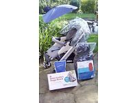 Bebe Confort pram/pushchair/car seat for sale with loads of extras included.