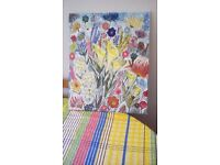 Hand painted cavas abstract flowers