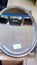 Oval wall mirror £20 #26289