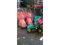 Joblot lawnmowers qualcast and hovermower