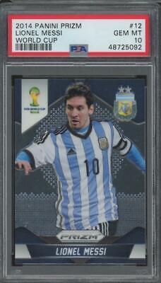 2014 Panini Prizm World Cup #12 Lionel Messi Gem Mint PSA 10
