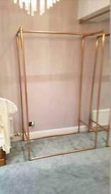 Copper clothes rails