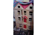 Dolls house john lewis large pintoy real wood! Toys