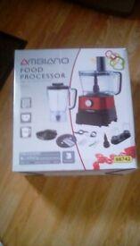 Ambiano 800w food processor, brand new, still in box