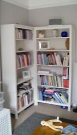 Ikea hemnes bookcase shelving unit x2.