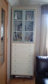 Glass cabinet and storage