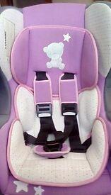 Tiny tatty teddy pink car seat