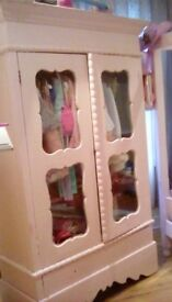 French Double oak wardrobe with glass doors DISPLAY CABNET