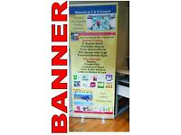 Banners, Vinyl Signage, Laminate, Photos, Poster Printing, Promotional items & Canvas.