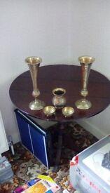 Brass 5 piece ornament set
