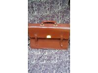 For sale..brown leather briefcase.