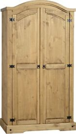 New large double Mexican pine wardrobe for sale