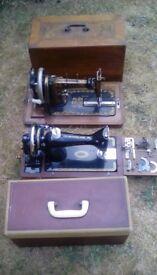 Sewing machine x 2 . Singer 99k . Rossman