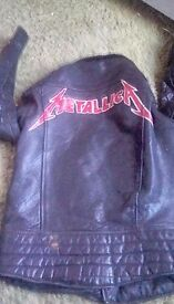 Old style metallica leather jacket
