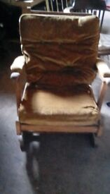 Vintage rocking chair re-upholstery project tlc required