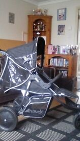 Double hauck pushchair. Bargain. Great condition. Includes rain cover.