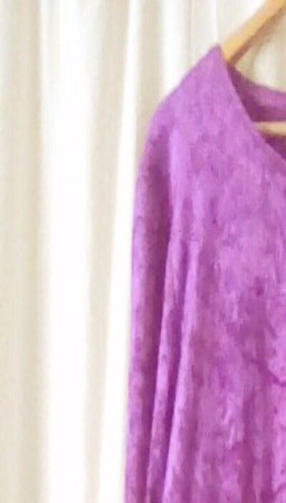 Crushed velvet balloon dress by idaretobe.