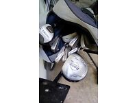 Golf club set with bag n cart