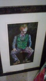 Joker pic framed