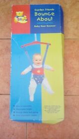 Baby door bouncer. Hardly used and still in box